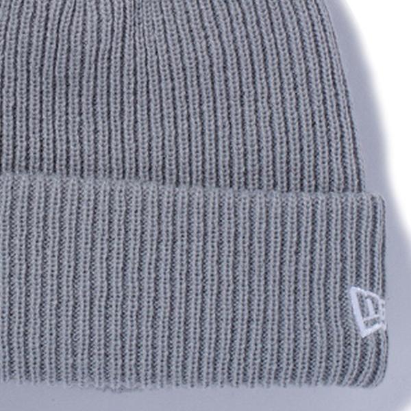 ニューエラ ニットキャップ ポンポンニット ライトグレー スノーホワイト New Era Knit Cap Pom-Pon Knit Light Gray Snow White|cio|03