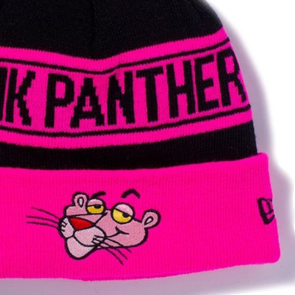 ピンクパンサー×ニューエラ ニットキャップ ポンポンニット フェイス ブラック 蛍光ピンク ブラック Pink Panther×New Era Knit Cap Pom-Pon Knit Face|cio|03
