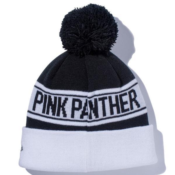 ピンクパンサー×ニューエラ ニットキャップ ポンポンニット フェイス ブラック ホワイト Pink Panther×New Era Knit Cap Pom-Pon Knit Face Black|cio|02
