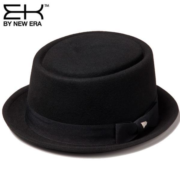 イーケーバイニューエラ ハット ザ ポークパイ ウール グログランバンド ブラック EK by New Era Hat The Porkpie Wool Grosgrain Band Black|cio