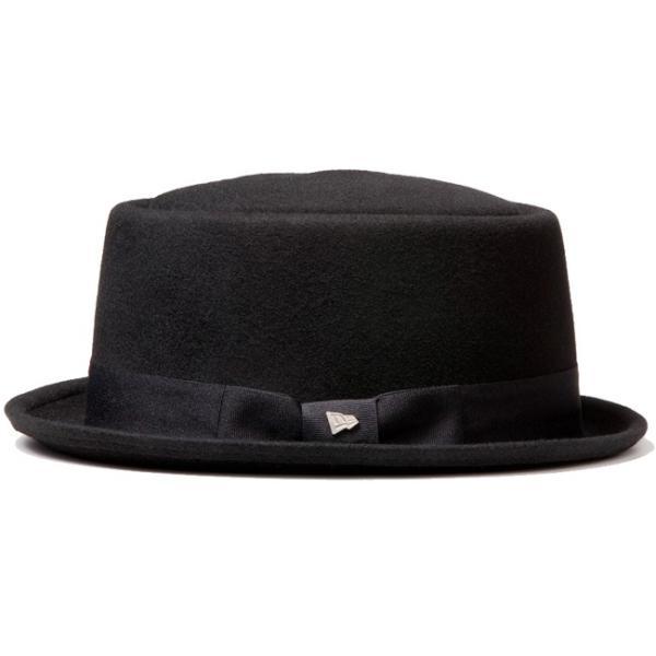 イーケーバイニューエラ ハット ザ ポークパイ ウール グログランバンド ブラック EK by New Era Hat The Porkpie Wool Grosgrain Band Black|cio|02