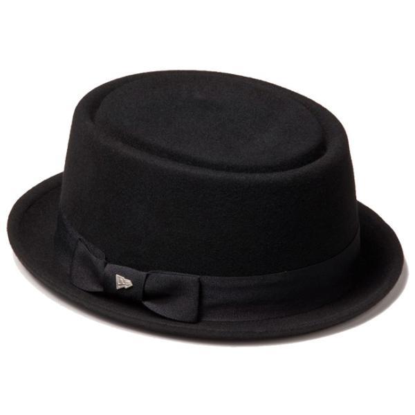 イーケーバイニューエラ ハット ザ ポークパイ ウール グログランバンド ブラック EK by New Era Hat The Porkpie Wool Grosgrain Band Black|cio|03
