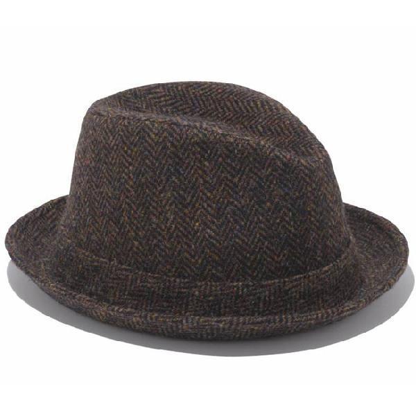 イーケーバイニューエラ ハット シリーズ81 ザ フェドーラ ウール ハリスツイード ブラウン EK by New Era Hat Series 81 The Fedora Wool Harris Tweed Brown|cio|02