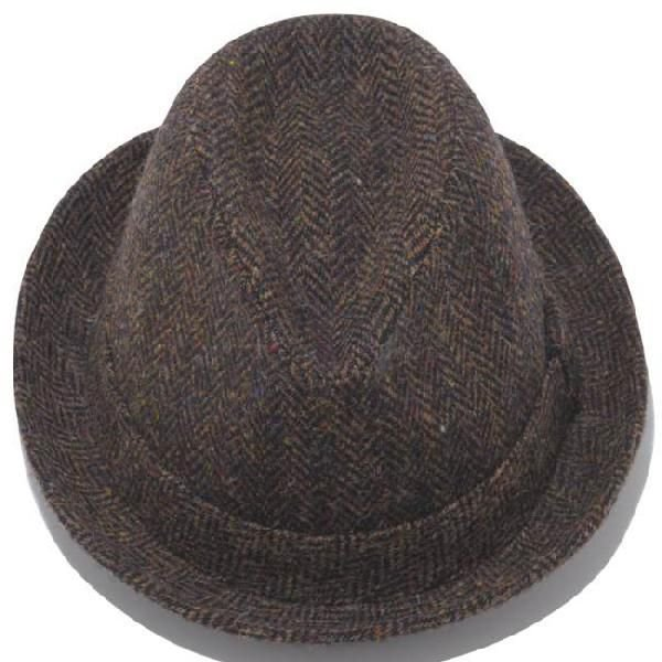 イーケーバイニューエラ ハット シリーズ81 ザ フェドーラ ウール ハリスツイード ブラウン EK by New Era Hat Series 81 The Fedora Wool Harris Tweed Brown|cio|03