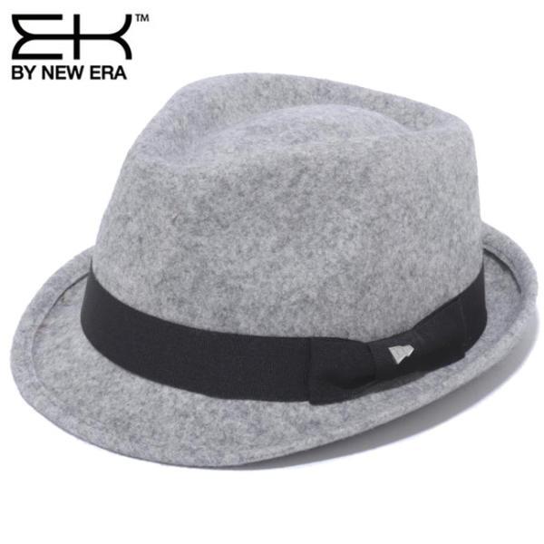 イーケーバイニューエラ ハット ザ トリルビー グレー ブラックグログランバンド シルバー EK by New Era Hat The Trilby Gray Black Grosgrain Band Silver|cio
