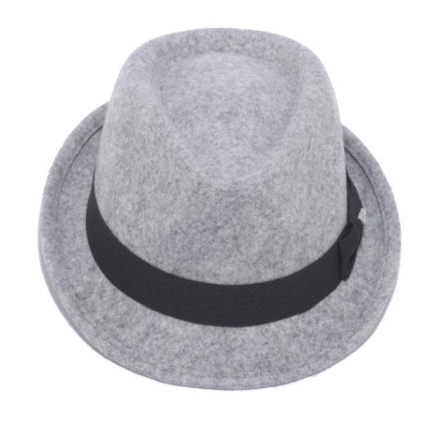 イーケーバイニューエラ ハット ザ トリルビー グレー ブラックグログランバンド シルバー EK by New Era Hat The Trilby Gray Black Grosgrain Band Silver|cio|02