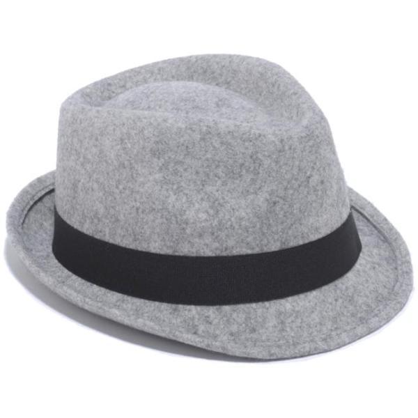 イーケーバイニューエラ ハット ザ トリルビー グレー ブラックグログランバンド シルバー EK by New Era Hat The Trilby Gray Black Grosgrain Band Silver|cio|03