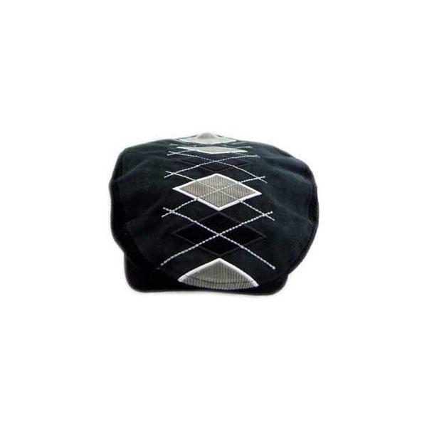 イーケー バイ ニューエラ ハンチング キャップ コード アーガイル ギャッツビー ブラック EK by NEW ERA HUNTING Cord Argyle Gatsby Black cio 02