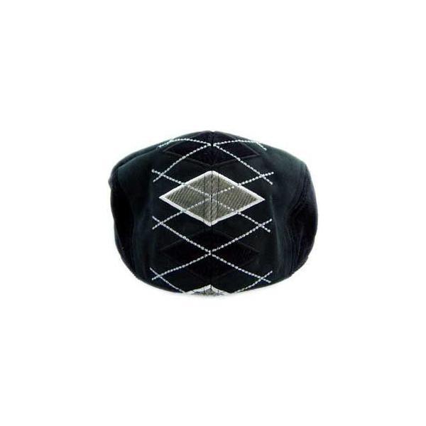 イーケー バイ ニューエラ ハンチング キャップ コード アーガイル ギャッツビー ブラック EK by NEW ERA HUNTING Cord Argyle Gatsby Black cio 03