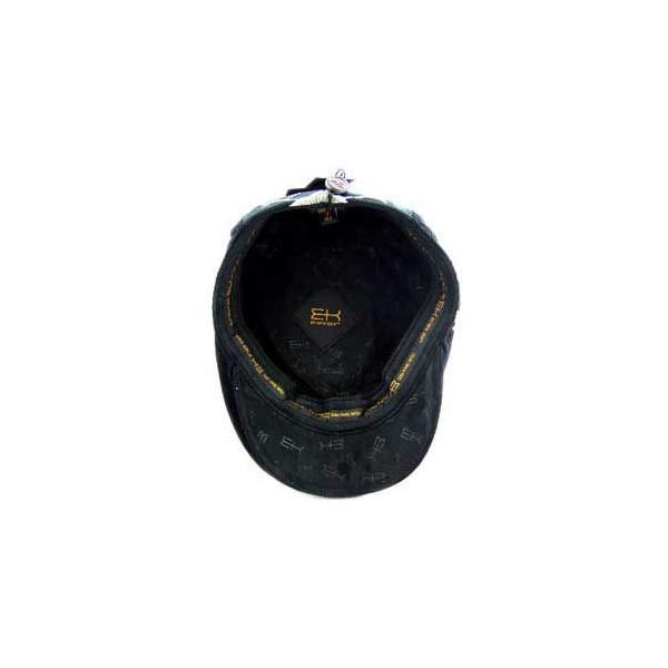 イーケー バイ ニューエラ ハンチング キャップ コード アーガイル ギャッツビー ブラック EK by NEW ERA HUNTING Cord Argyle Gatsby Black cio 04