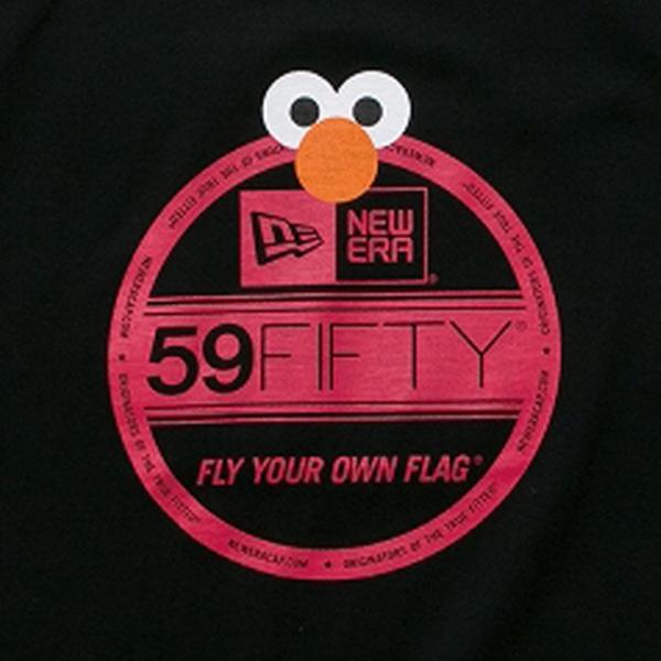 セサミストリート×ニューエラ キッズ S/S Tシャツ コットン ティー バイザーステッカー エルモ Sesame Street×New Era Kids S/S T-Shirts Cotton Tee|cio|02