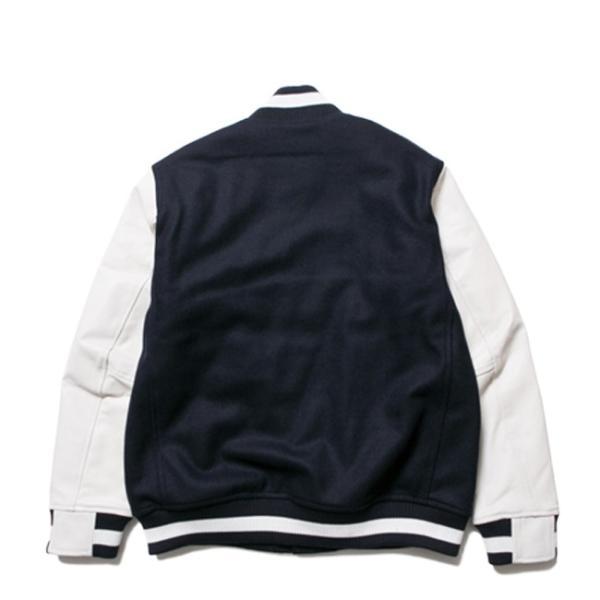 ニューエラ スタジアムジャケット N パッチ ネイビー ホワイト ホワイト ネイビー ネイビー New Era Stadium Jacket N Patch Navy White White Navy Navy|cio|02