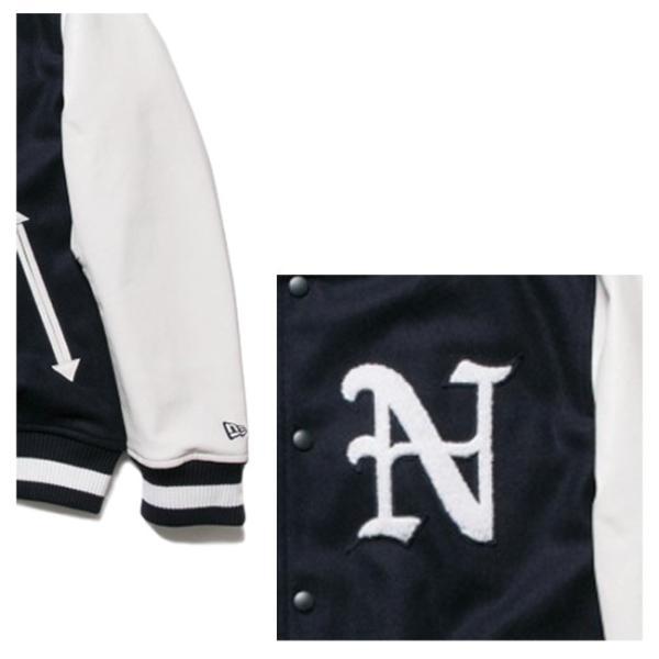 ニューエラ スタジアムジャケット N パッチ ネイビー ホワイト ホワイト ネイビー ネイビー New Era Stadium Jacket N Patch Navy White White Navy Navy|cio|03