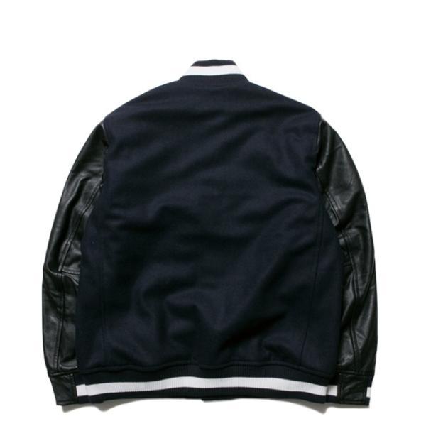ニューエラ スタジアムジャケット N パッチ ネイビー ブラック ブラック ネイビー ホワイト New Era Stadium Jacket N Patch Navy Black Black Navy White|cio|02