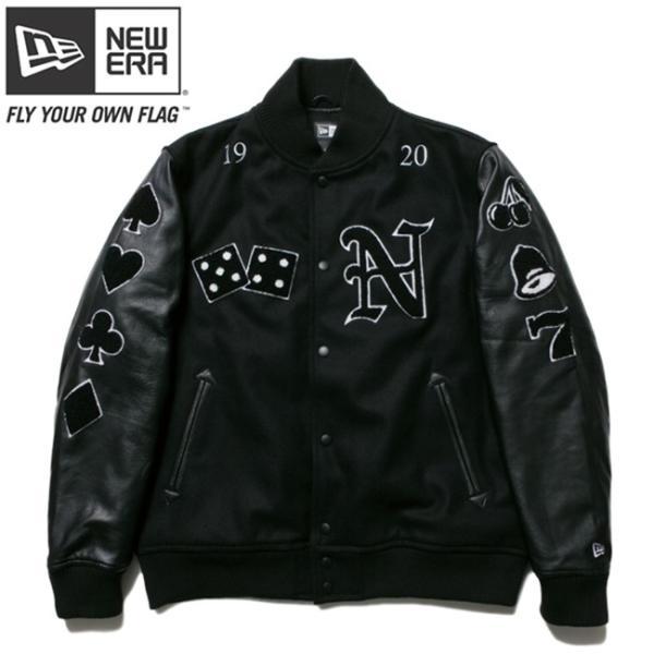 ニューエラ スタジアムジャケット フルパッチ ブラック ブラック ブラック ホワイト ホワイト New Era Stadium Jacket Full Patch Black Black Black White cio