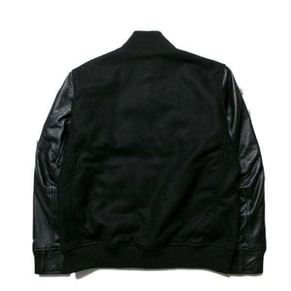 ニューエラ スタジアムジャケット フルパッチ ブラック ブラック ブラック ホワイト ホワイト New Era Stadium Jacket Full Patch Black Black Black White cio 02