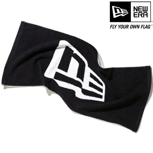 ニューエラ タオル フラッグロゴ ブラック ホワイト New Era Towel Flag Logo Black White|cio|02