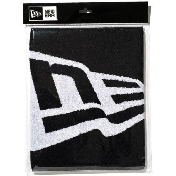 ニューエラ タオル フラッグロゴ ブラック ホワイト New Era Towel Flag Logo Black White|cio|03