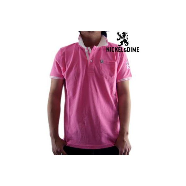 【SALE】NICKEL&DIME S/S Polo Shirt POLO PIQUET M C Pink ニッケル&ダイム S/S ポロシャツ ピケ M C ピンク cio