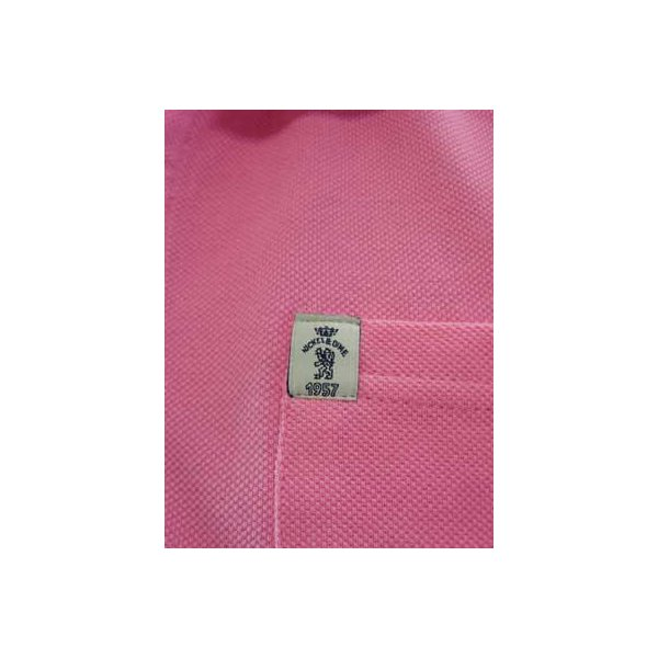 【SALE】NICKEL&DIME S/S Polo Shirt POLO PIQUET M C Pink ニッケル&ダイム S/S ポロシャツ ピケ M C ピンク cio 04