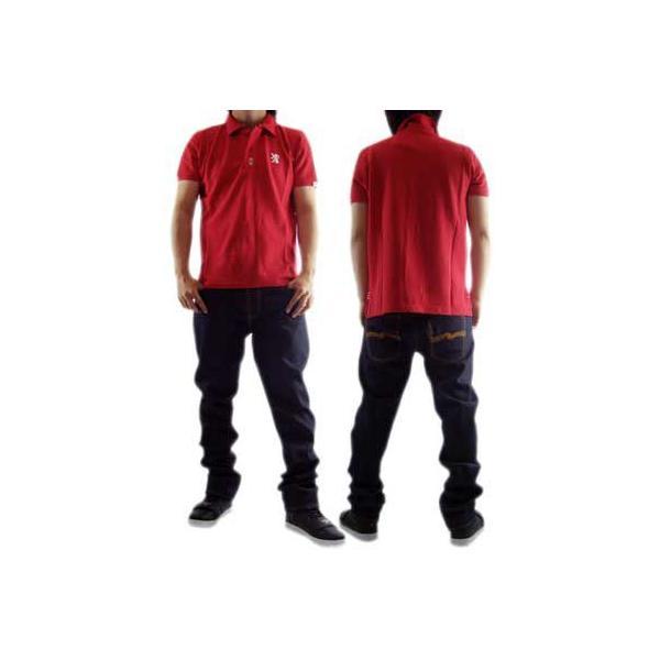 【SALE】NICKEL&DIME  S/S Polo Shirt PIQUET M C  Red ニッケル&ダイム S/S ポロシャツ ピケット M C レッド|cio|02