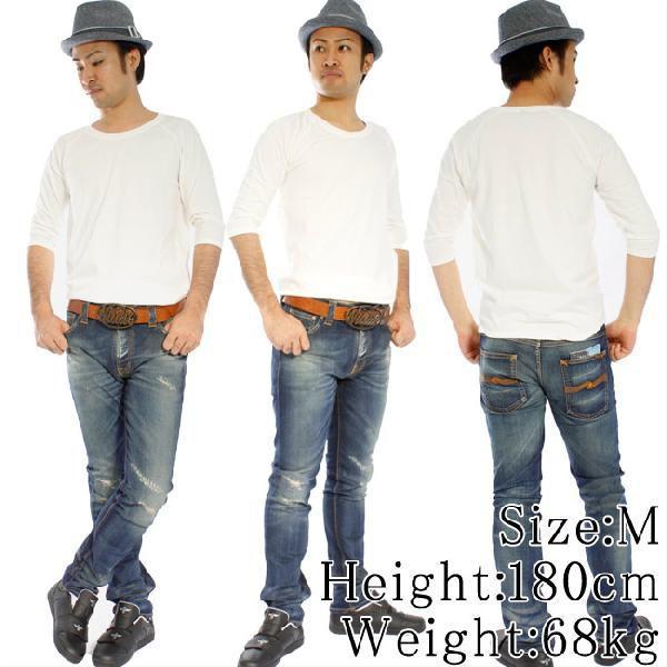 ヌーディージーンズ Q/S Tシャツ クォータースリーブティー オフホワイト Nudie Jeans Q/S T-Shirt Quarter Sleeve Tee Offwhite|cio|02