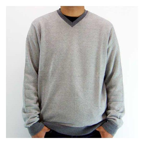 【SALE】Polo Ralph Lauren V Neck Knit Sweater 0127672 BG CONCORDE Gray ポロ ラルフローレン ブイネックニットセーター BG コンコルド グレー|cio