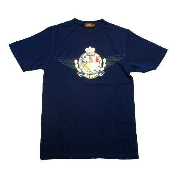 【SALE】リッチヤング ソサエティークレスト S/S Tシャツ ピーコートネイビー RICH YUNG RY SP 101 SOCIETY CREST S/S TEE Peacoat Navy cio