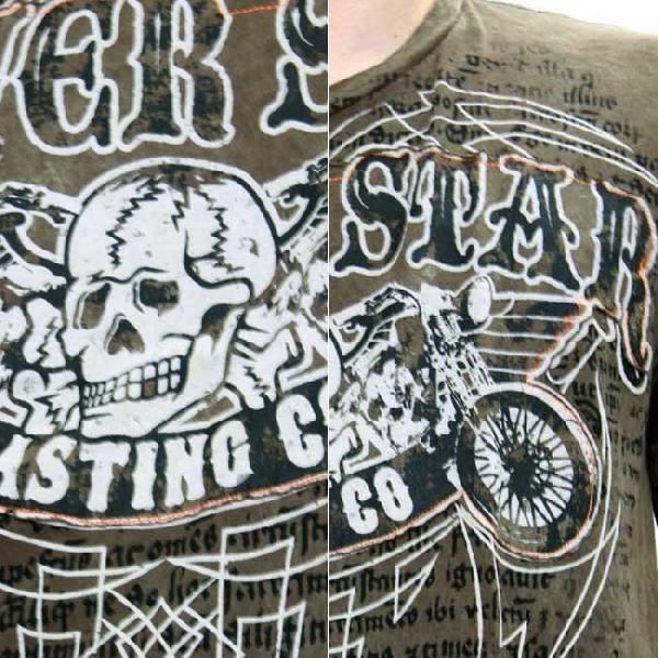 シルバースター SS Tシャツ デス クラブ MTE523 ブラウン cio 03