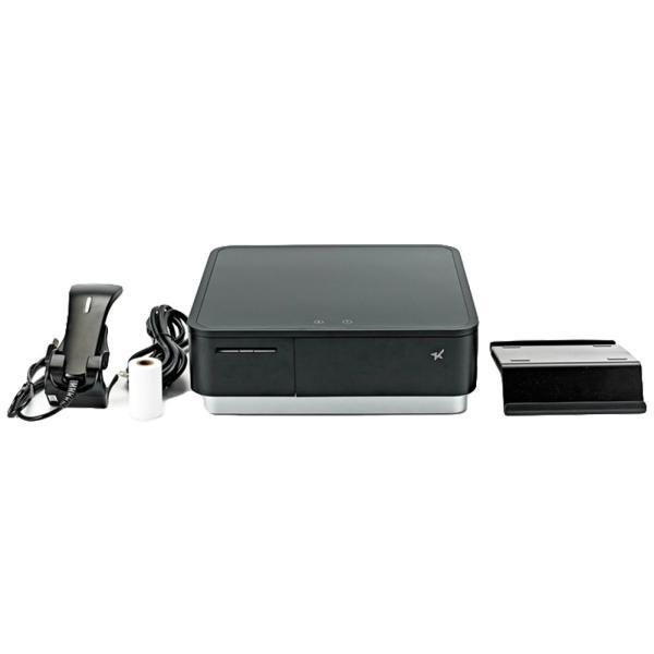 スター精密 キャッシュドロア一体型感熱式プリンター mPOP 旧 POP10-B1OF BLK JP 新 POP10-B1 BLK JP バーコードリーダー同梱 USB Bluetooth DK MFi ブラック|cio