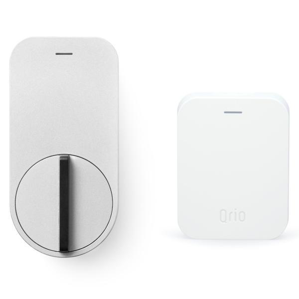 キュリオ スマートロック Q-SL1-HS(Q-SL1&Q-H1) セット(キュリオ ハブ付き) シルバー Qrio Smart Lock Q-SL1-HS(Q-SL1&Q-H1) Set (including Qrio Hub)|cio