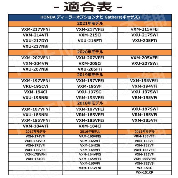 【ホンダ テレビ/ナビキット】 HONDA Gathers 2016 - 2017年 VXM-174VFi VXM-174VFXi VXM-175VFi VXM-175VFEi VXM-175VFNi VXM-174CSi 取説付|citizens-honpo|03