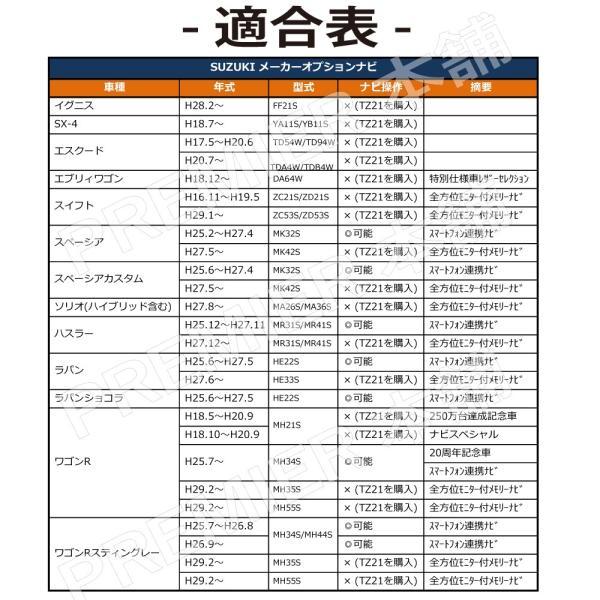 【テレビ/ナビキット】走行中 テレビ見れる ナビ操作出来る スズキ SUZUKI イグニス SX-4 エスクード エブリィワゴン スイフト メーカーナビ ディーラーナビ|citizens-honpo|05
