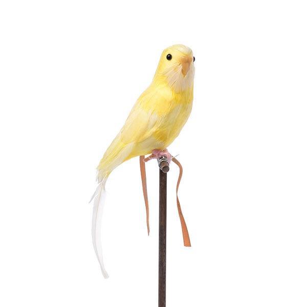 プエブコ PUEBCO バードオブジェ ARTIFICIAL BIRDS セキセイインコ イエロー 125077|citron-g