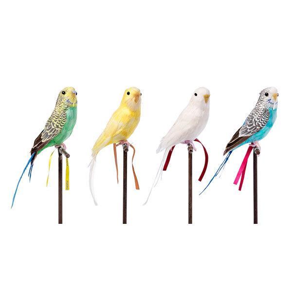プエブコ PUEBCO バードオブジェ ARTIFICIAL BIRDS セキセイインコ イエロー 125077|citron-g|02
