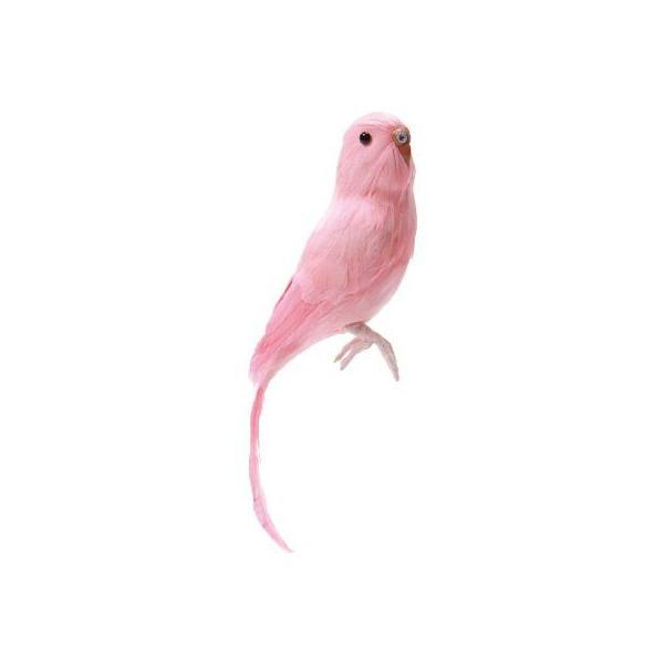 プエブコ PUEBCO バードオブジェ ARTIFICIAL BIRDS セキセイインコ ピンク 128078|citron-g