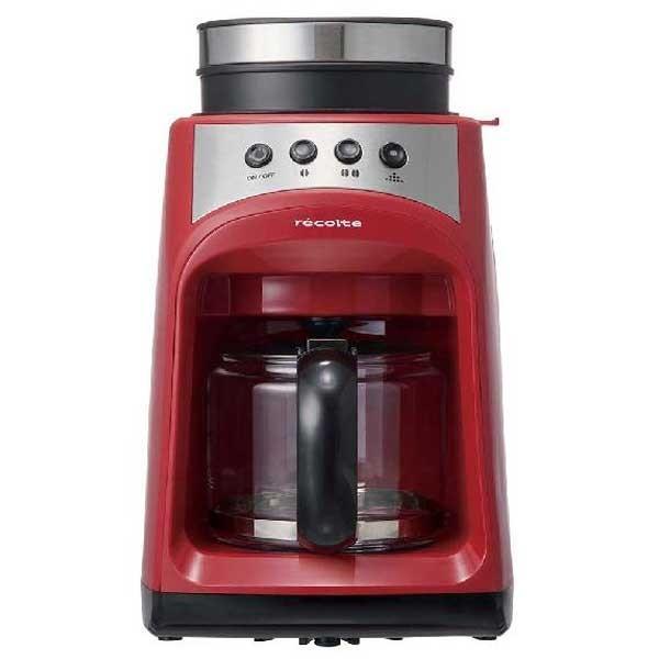 recolte レコルト Grind and Drip Coffee Maker グラインド アンド ドリップコーヒーメーカー FIKA フィーカ レッド RGD-1(R) 【送料無料】 citron-g