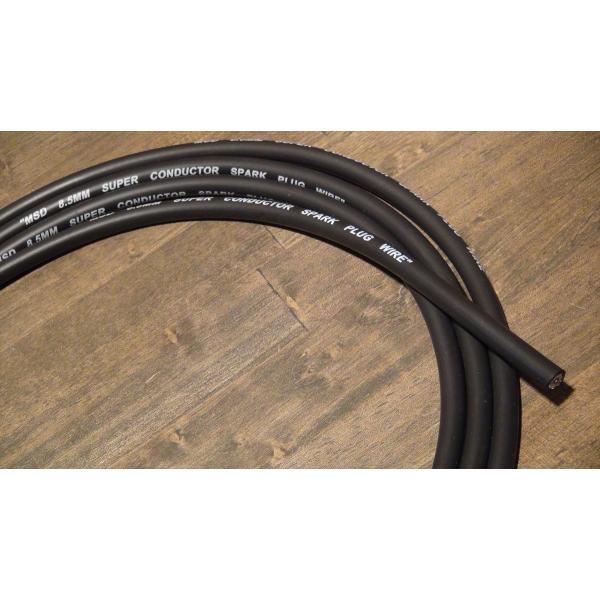 プラグコード 切売り MSD スーパーコンダクター 8.5mm 黒 ブラック 切り売り 10cm単位 プラグワイヤー アメ車 旧車