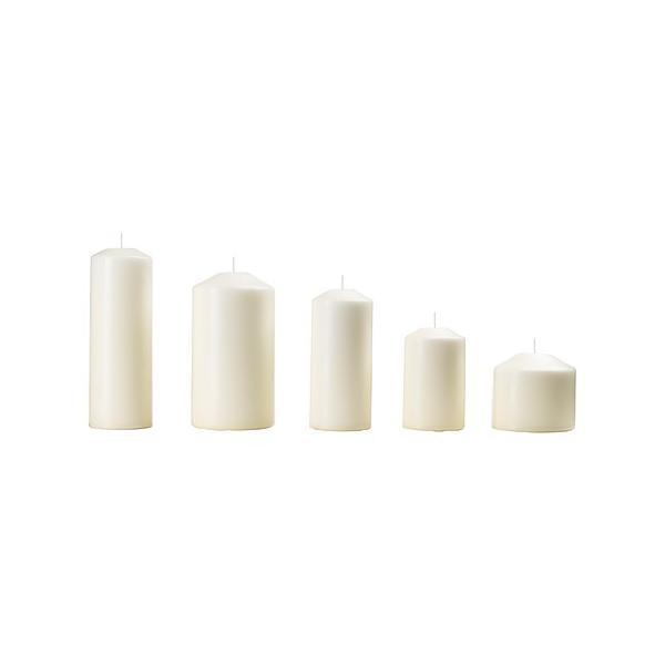 IKEA イケア 香りなしブロックキャンドル5個セット ナチュラル 10377945 FENOMEN|clair-kobe