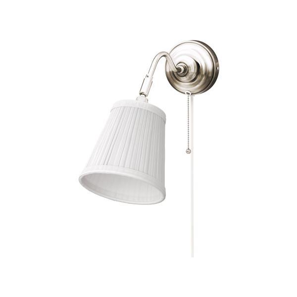RoomClip商品情報 - IKEA イケア ウォールランプ ニッケルメッキ ホワイト 00163879 ARSTID