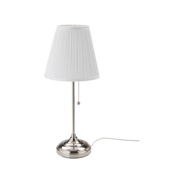 IKEA イケア テーブルランプ ニッケルメッキ ホワイト 白 80280638 ARSTID