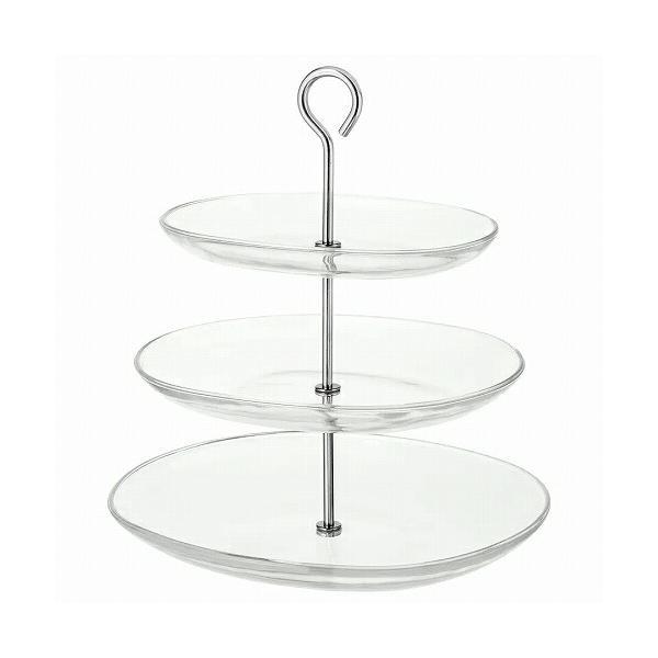 IKEA イケア サービングスタンド 3段 ステンレススチール クリアガラス a70279843 KVITTERA|clair-kobe