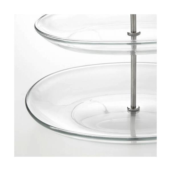 IKEA イケア サービングスタンド 3段 ステンレススチール クリアガラス a70279843 KVITTERA|clair-kobe|03