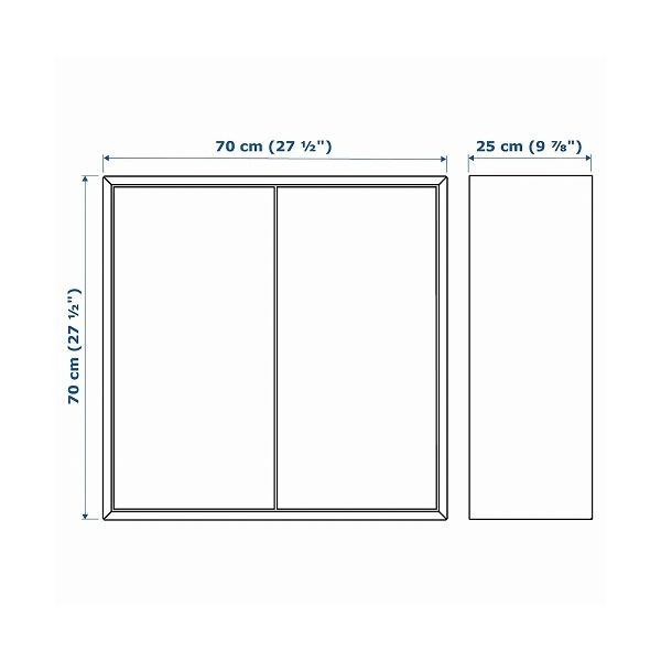 IKEA イケア キャビネット 棚 扉2 棚板2付き ホワイト b10334606 EKET clair-kobe 04