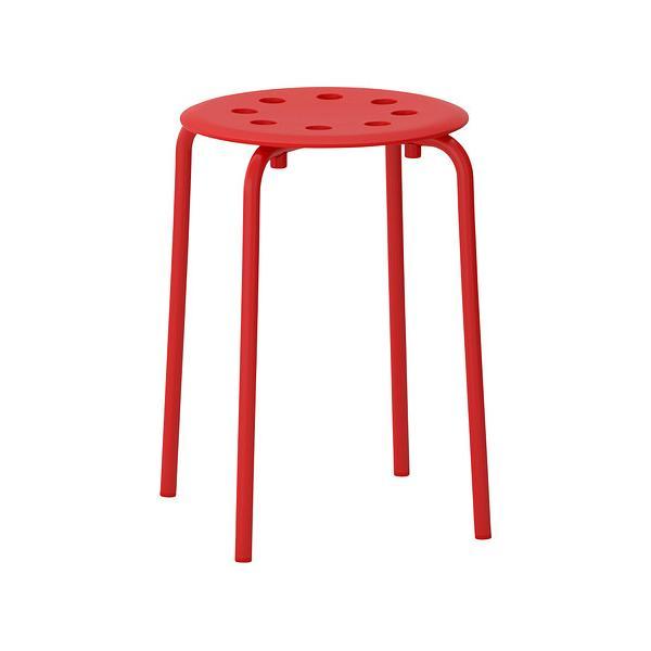 IKEA イケア MARIUS スツール レッド 赤 c60246198の写真