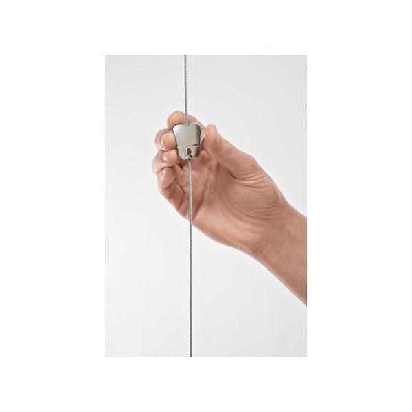 IKEA イケア ワイヤー ループ&調節可能フック付き スチール メタル d90352837 HAGHED|clair-kobe|02