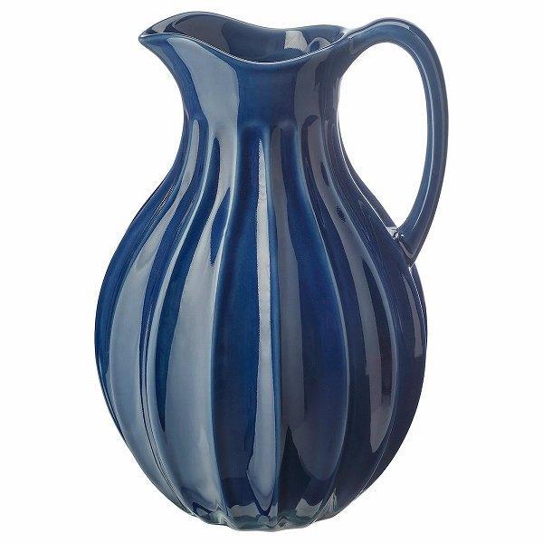 IKEA イケア 花瓶 ピッチャー ブルー 青 高さ26cm n30451835 VANLIGEN