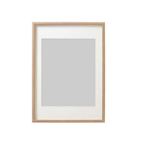 IKEA イケア MOSSEBO フレーム ホワイトステインオーク調 50x70cm n40303302
