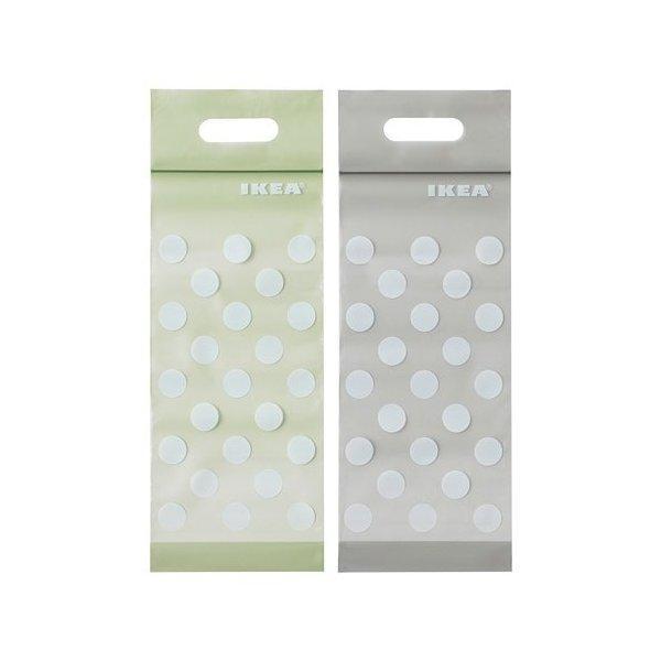 IKEA イケア プラスチック袋 20 ピース グリーン ベージュ n50440153 BAMSIG clair-kobe