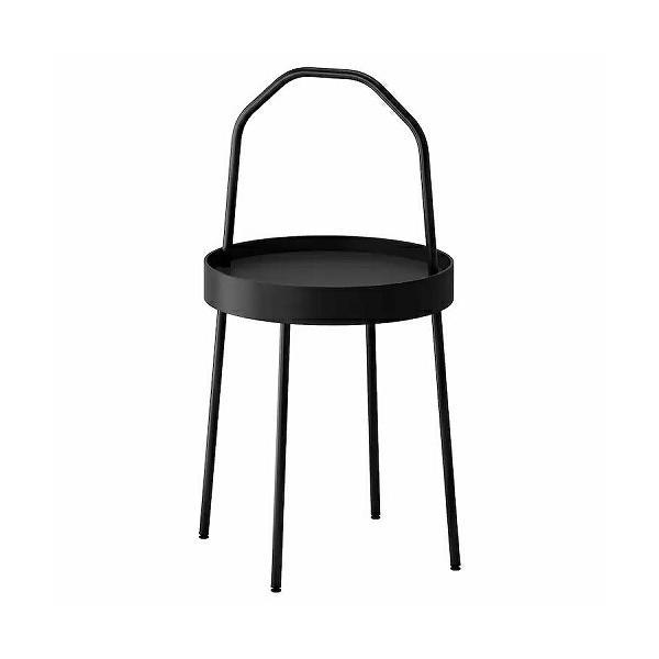 IKEAイケアBURVIKブールヴィークサイドテーブルブラック黒z00340387